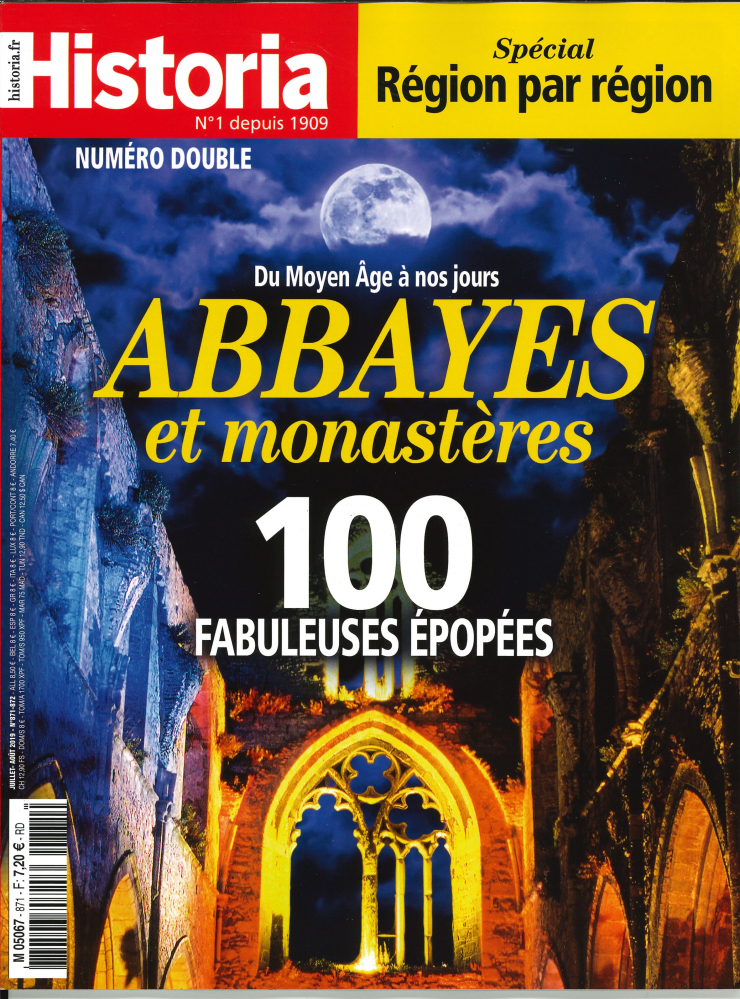 HISTORIA MENSUEL N 871/872  ABBAYES ET MONASTERES - JUILLET/AOUT 2019