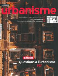 URBANISME N 415 -QUI FAIT L'URBANISME AUJOURD'HUI '- JANVIER 2020