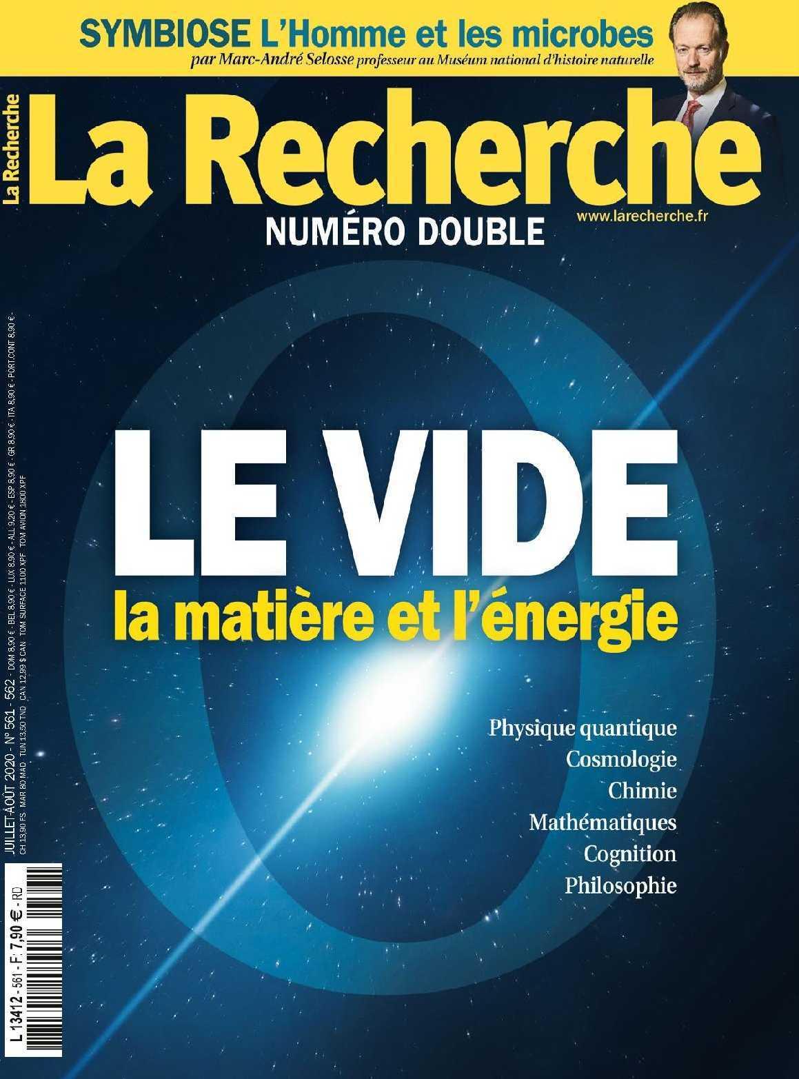 LA RECHERCHE N 561/562- JJUILLET/AOUT 2020