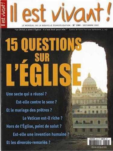 N 244  - 15 QUESTIONS SUR L'EGLISE