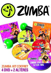 ZUMBA KIT FITNESS  - COFFRET 4 DVD + 2 ALTERES - VERSION FRANCAISE