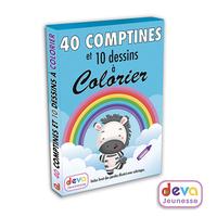 40 COMPTINES ET 10 DESSINS A COLORIER