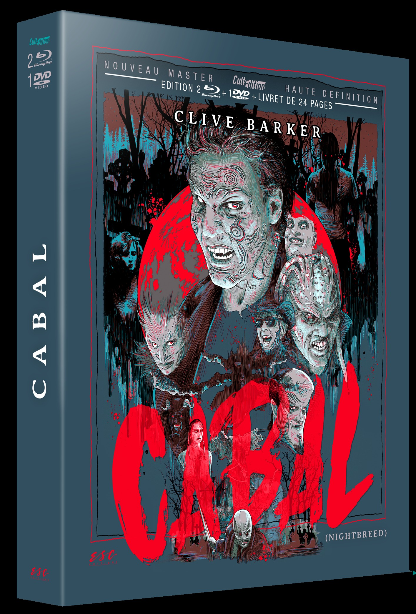 CABAL CULT'EDITION - DIGIPACK 2 BLU-RAY + 1 DVD + 1 LIVRET 24 PAGES