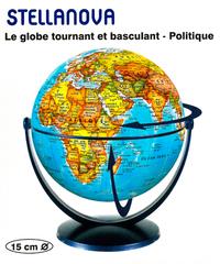 GLOBE 15 CM POLITIQUE TOURNANT & BASCULANT