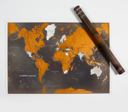 DISPLAY CARTE DU MONDE A GRATTER BLACK EDITION (4EX)