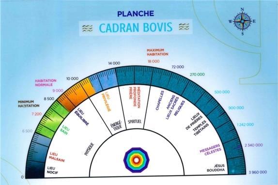 PLANCHE CADRAN BOVIS ET ENERGIE VITALE - 21,5 X 14 CM