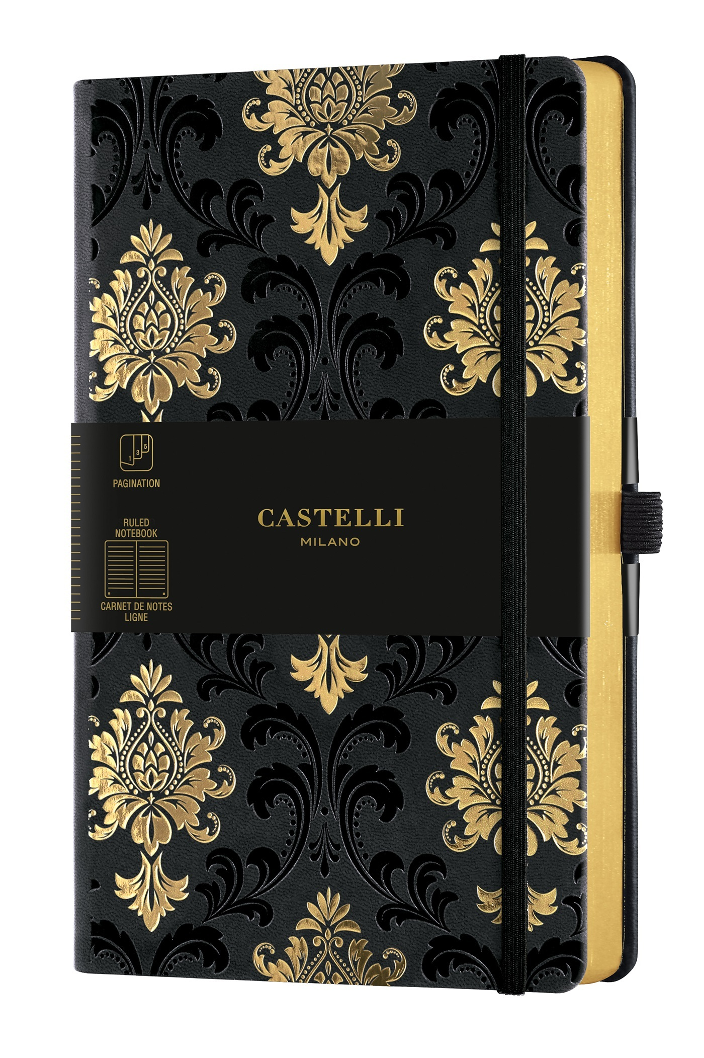 CARNET COPPER AND GOLD GRAND FORMAT LIGNE BAROQUE GOLD