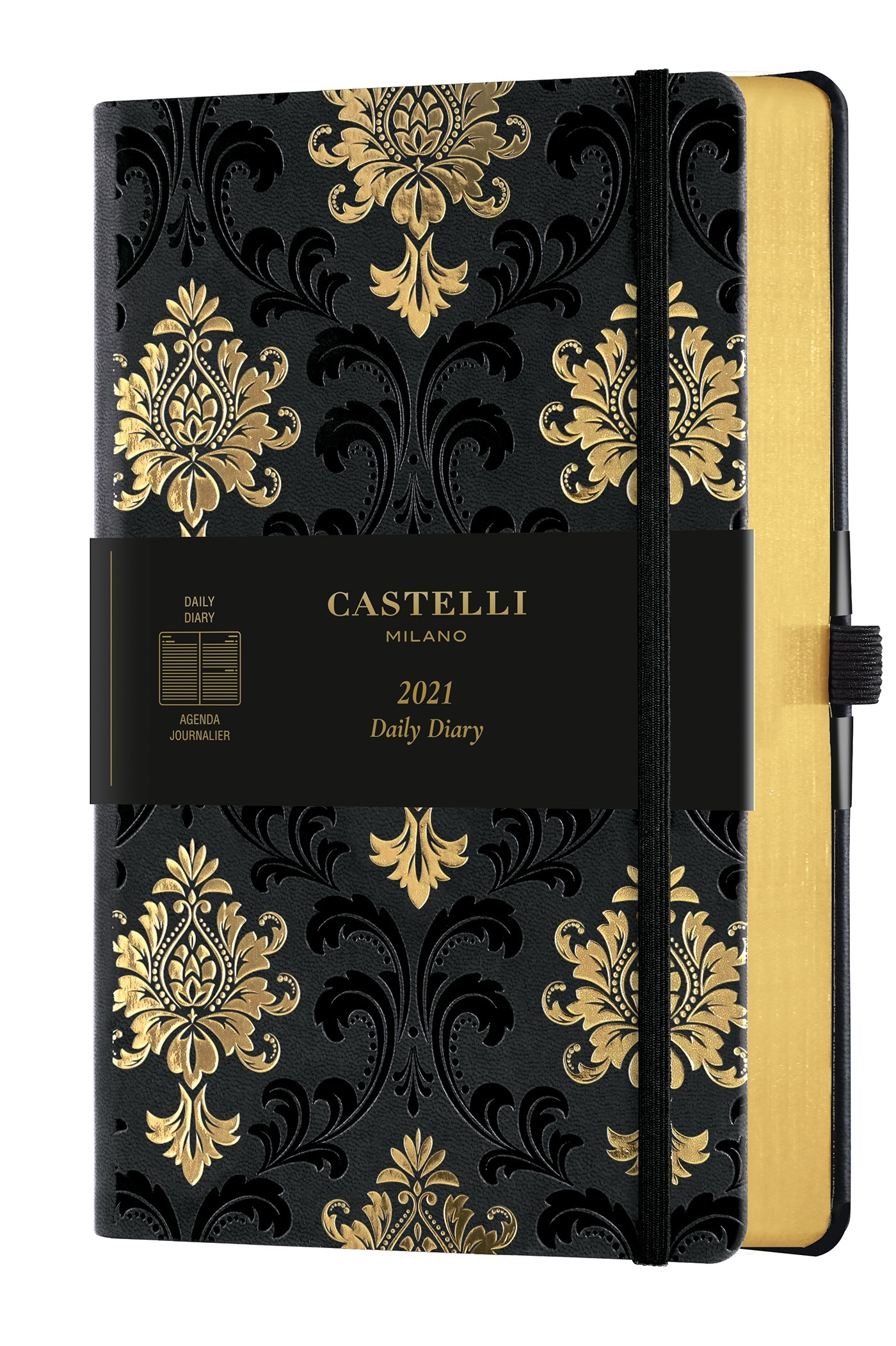 AGENDA 2021 JOURNALIER GRAND FORMAT C&G BAROQUE GOLD