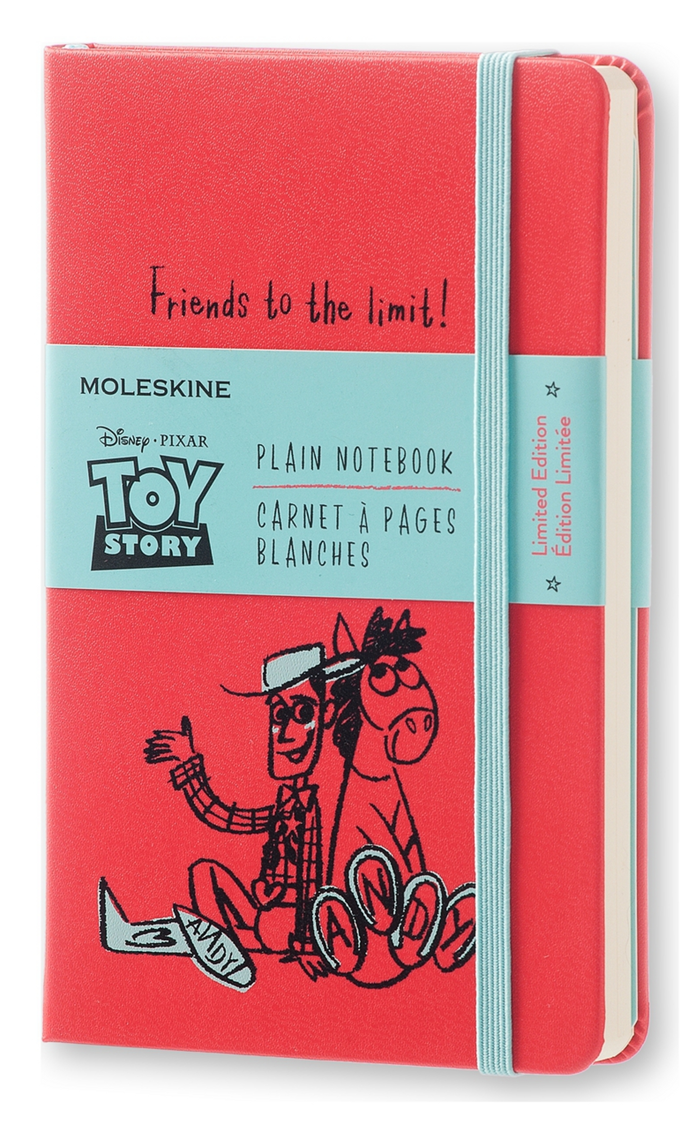 CARNET EDITON LIMITEE TOY STORY - FORMAT DE POCHE - PAGES BLANCHES