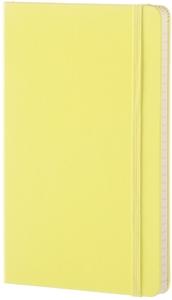 CARNET CLASSIQUE - GRAND FORMAT - PAGES LIGNEES - COUVERTURE RIGIDE CITRON