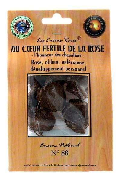 ENCENS RARES : AU COEUR FERTILE DE LA ROSE - L'HONNEUR DES CHEVALIERS - DEVELOPPEMENT PERSONNEL - 25