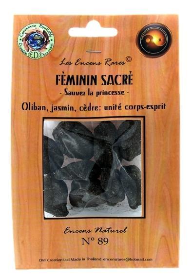 ENCENS RARES : FEMININ SACRE - SAUVEZ LA PRINCESSE - UNITE CORPS ET ESPRIT - 25 GR