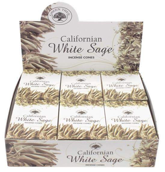 ENCENS GREEN TREE WHITE SAGE CONES - 15 GRS