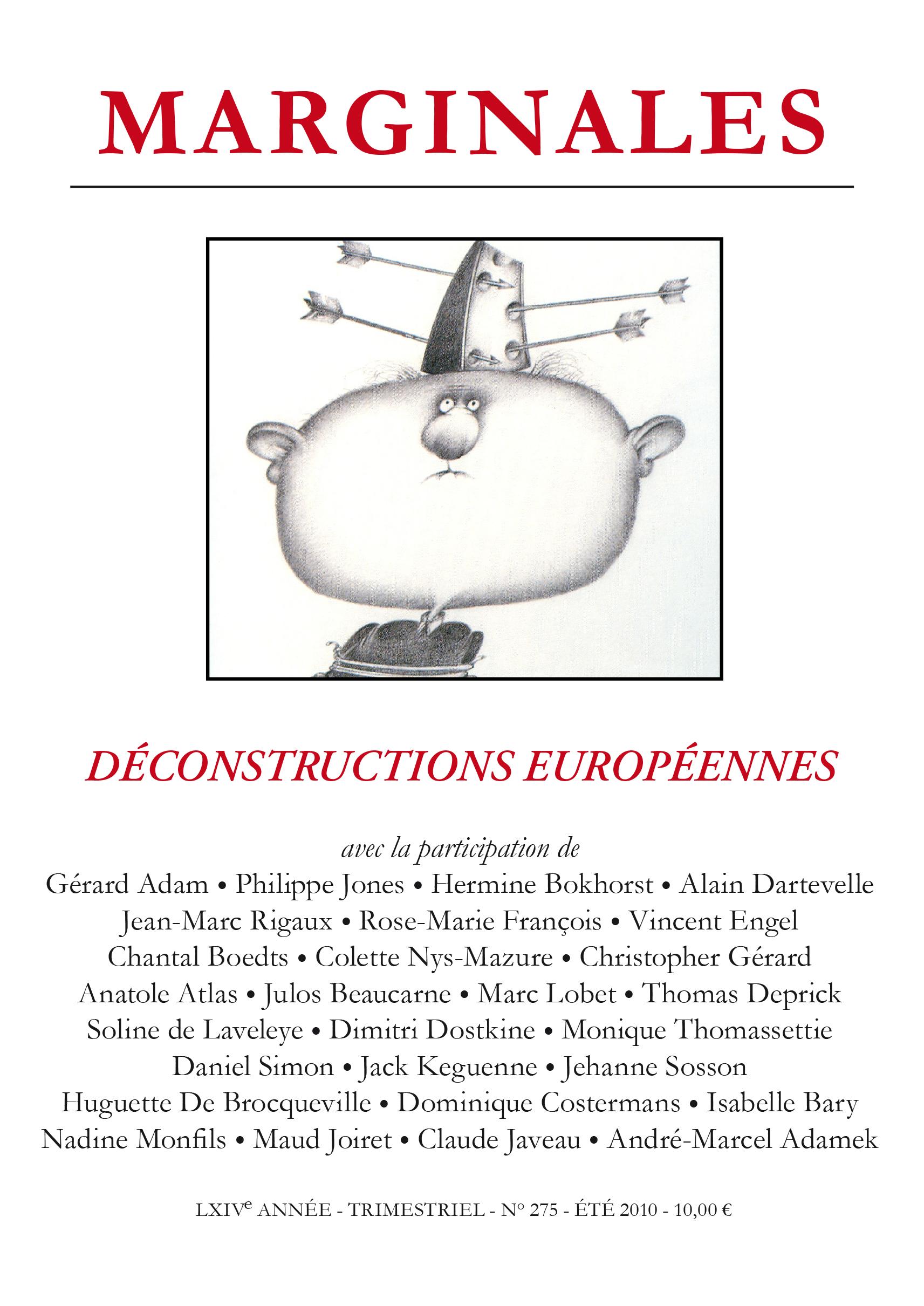 DECONSTRUCTIONS EUROPEENNES