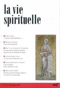 LA VIE SPIRITUELLE N  761