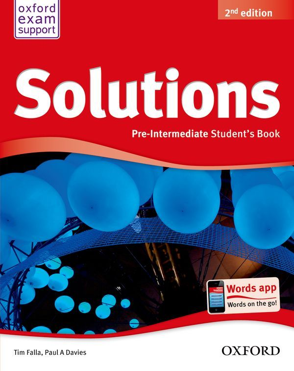 SOLUTIONS 2ND EDITION PRE-INTERMEDIATE: STUDENT'S BOOK