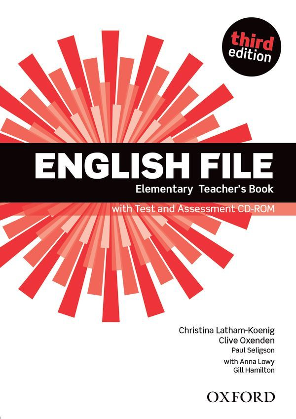 ENGLISH FILE 3RD EDITION ELEMENTARY TEACHER'S BOOK WITH TEST & ASSESSMENT CD-ROM
