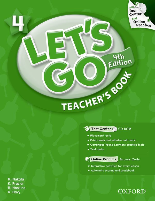 LET'S GO 4TH EDITION 4: TEACHER'S BOOK WITH TEST CENTER PACK