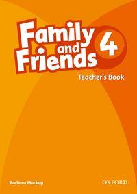 FAMILY & FRIENDS 4: TEACHER'S BOOK