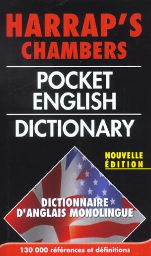HARRAP'S CHAMBERS POCKET ENGLISH DICTIONARY