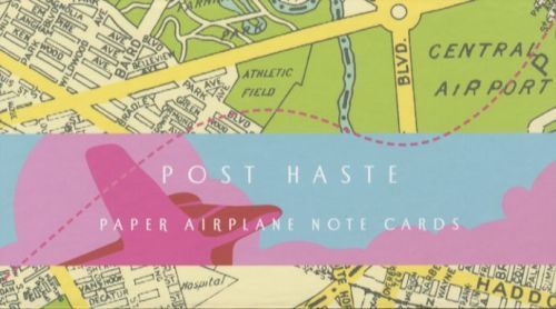 POST HASTE: PAPER AIRPLANE NOTE CARDS