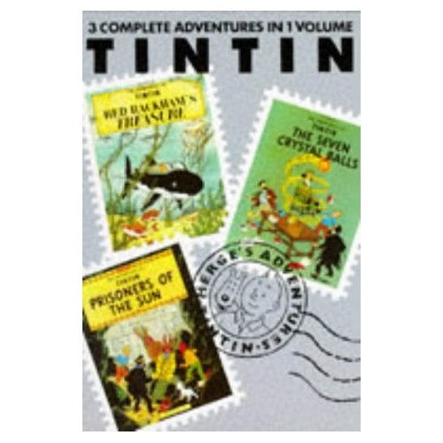 TINTIN 3-IN 1 T.4, RED RACHAM'S TREASURE, SEVEN CRYSTAL BALLS, PRISONERS OF THE SUN