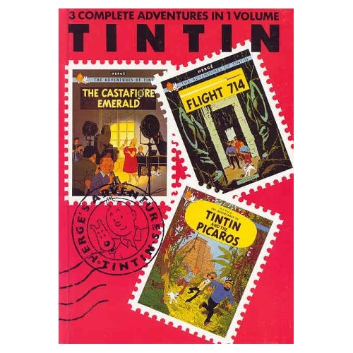 TINTIN 3-IN 1 T.7, CASTAFIORE EMERALD, FLIGHT 714, PICAROS