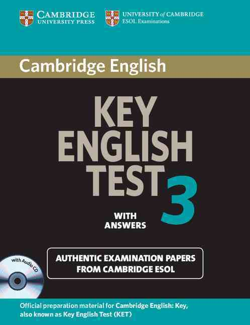 CAMBRIDGE KEY ENGLISH TEST 3 SELF-STUDY PACK : STUDENT BOOK WITH