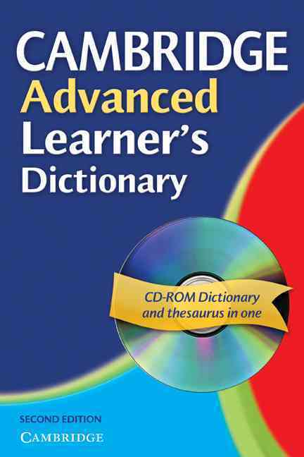 CAMBRIDGE ADVANCED LEARNER'S DICTIONARY, PAPERBACK WITH CD-ROM