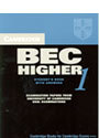 CAMBRIDGE BEC HIGHER 1 STUDENT BOOK WITH ANSWERS