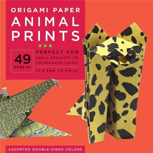 ORIGAMI PAPERS ANIMAL PRINTS (LARGE 8 1/4
