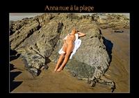 ANNA NUE A LA PLAGE LIVRE POSTER DIN A4 HORIZONTAL