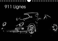 911 LIGNES CALENDRIER MURAL 2020 DIN A4 HORIZONTAL - LES BELLES LIGNES D UNE VOITUR