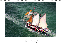 VOILIERS D'AUTREFOIS (CALENDRIER MURAL 2020 DIN A3 HORIZONTAL) - PHOTOS AERIENNES D'ANCIENS VOILIERS