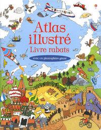 ATLAS ILLUSTRE - LIVRE RABATS - AVEC UN PLANISPHERE GEANT