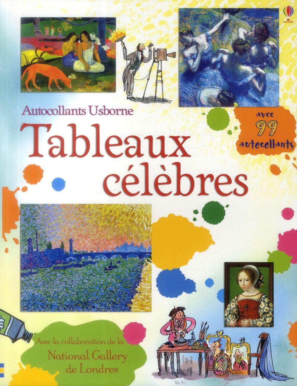 TABLEAUX CELEBRES - AUTOCOLLANTS USBORNE
