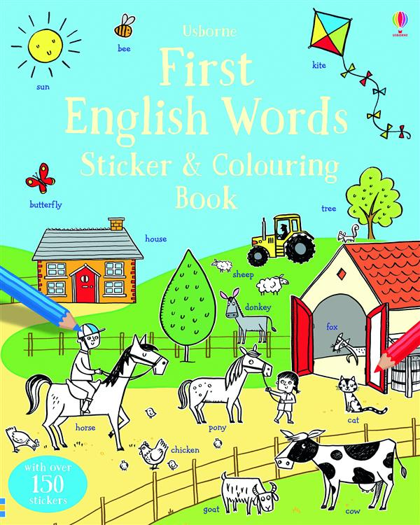 FIRST ENGLISH WORDS STICKER & COLOURING BOOK