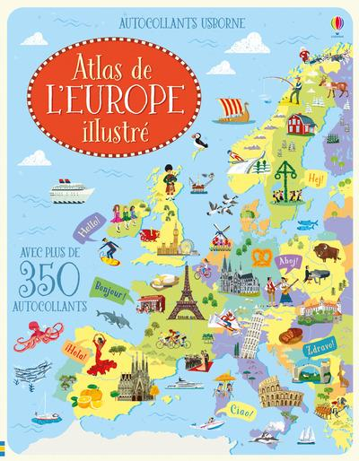 ATLAS DE L'EUROPE ILLUSTRE - AUTOCOLLANTS USBORNE