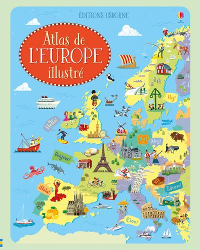 ATLAS DE L'EUROPE ILLUSTRE