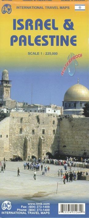 ISRAEL ET PALESTINE  1/225.000