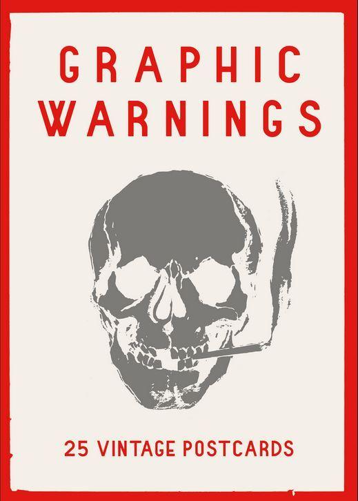 GRAPHIC WARNINGS 25 VINTAGE POSTCARDS /ANGLAIS