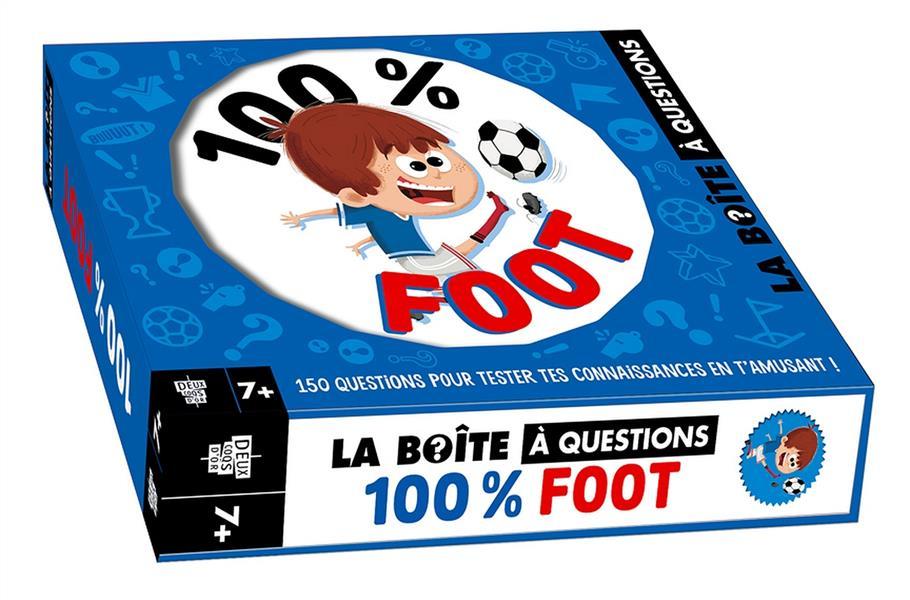100 % FOOT - BOITE AVEC CARTES ET LIVRE
