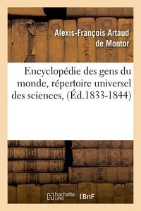 ENCYCLOPEDIE DES GENS DU MONDE, REPERTOIRE UNIVERSEL DES SCIENCES, (ED.1833-1844)