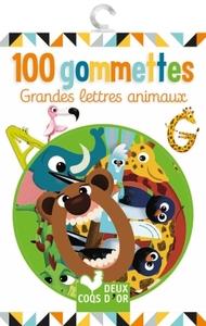 100 GOMMETTES - GRANDES LETTRES ANIMAUX