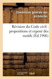 REVISION DU CODE CIVIL : PROPOSITIONS ET EXPOSE DES MOTIFS