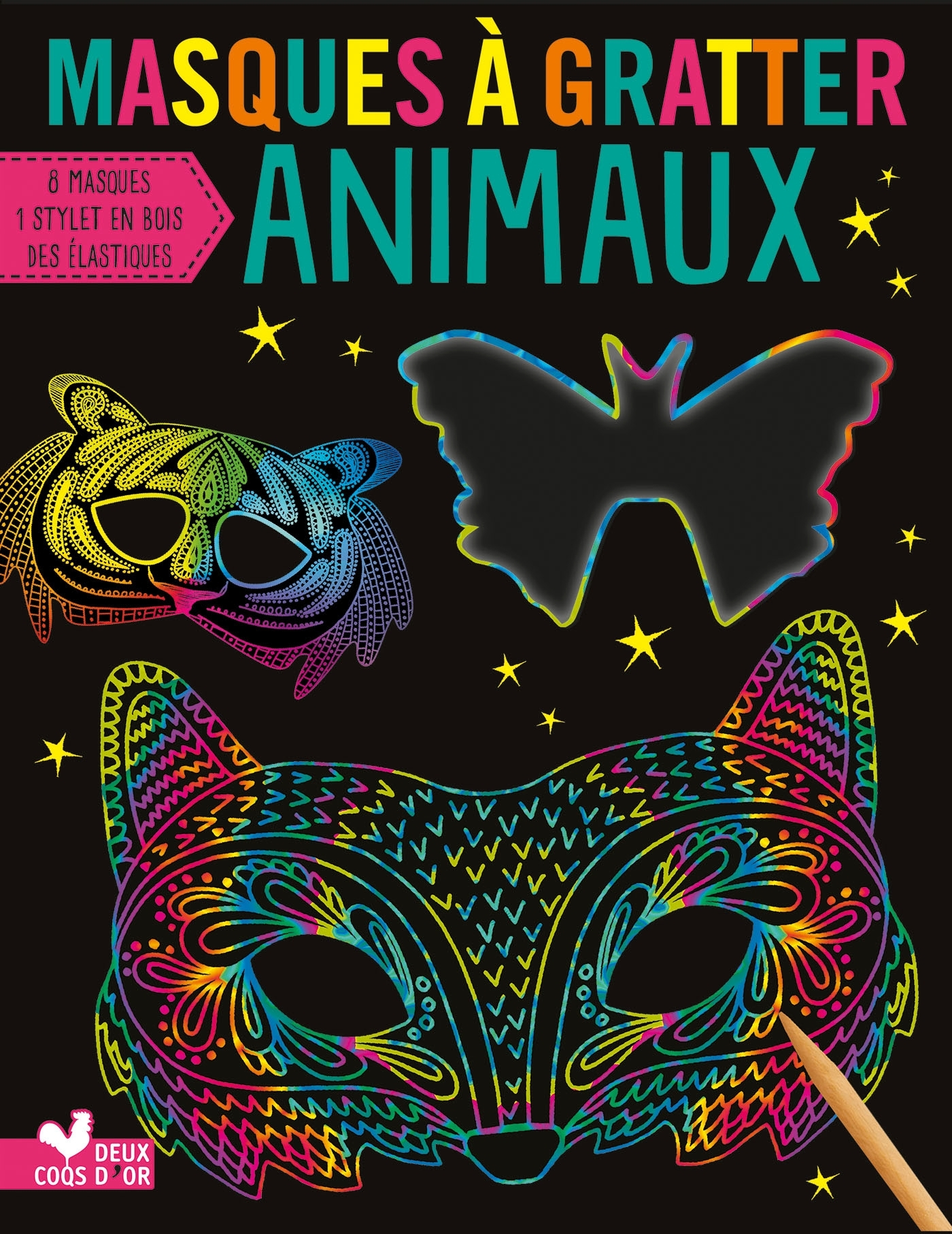 MASQUES A GRATTER - ANIMAUX