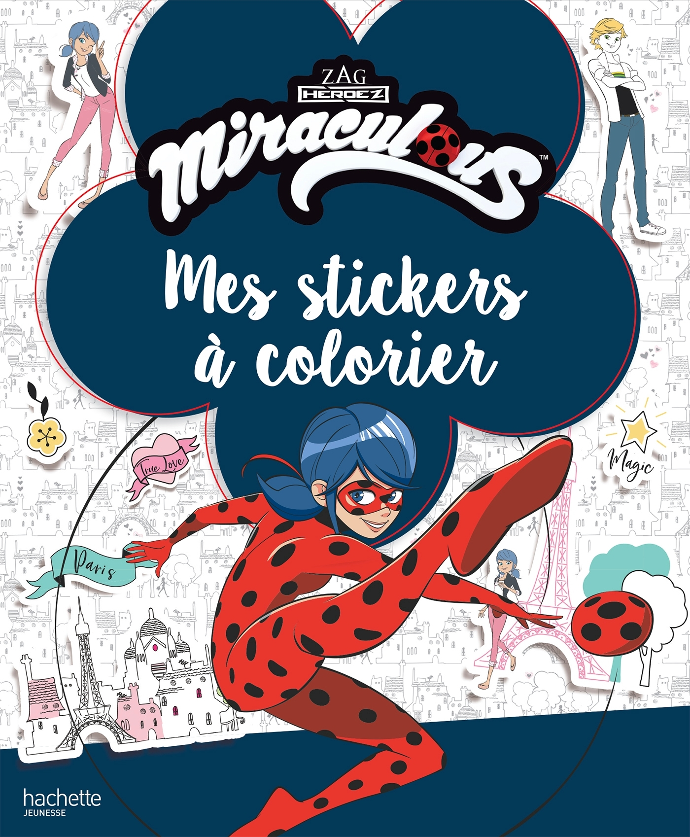 MIRACULOUS - STICKERS A COLORIER