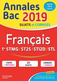 ANNALES BAC 2019 FRANCAIS 1ERES TECHNO
