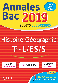 ANNALES BAC 2019 HISTOIRE-GEO TLES L/ES/S