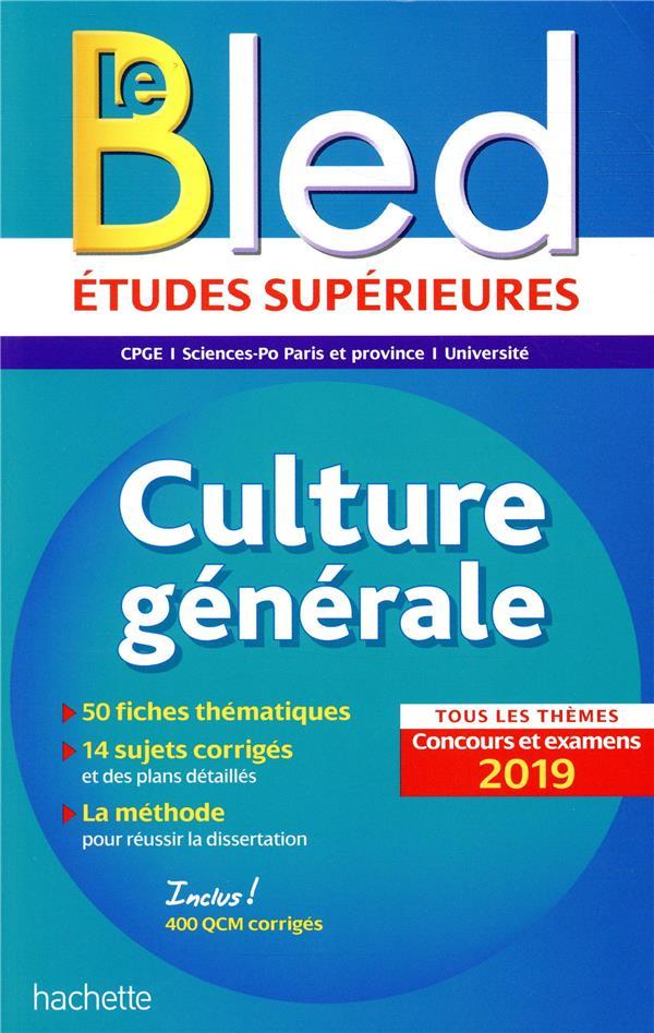 Bled culture generale, examens et concours 2019